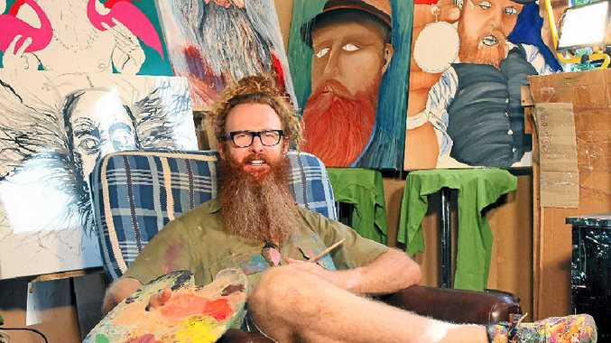 HAIRY HEROES: Artist Darren Trebilco is looking for bearded men willing to pose for a series of portraits he is painting to raise money for men's health. Do you sport a Ned Kelly, an Abe Lincoln, a Billy Connolly or a ZZ Top?