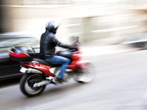 Man suffers chest, leg injuries as motorbike collides with car