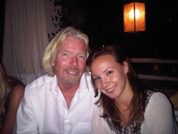 Bitcoin CEO Autumn Radtke, pictured with Virgin's Richard Branson. Photo: Twitter