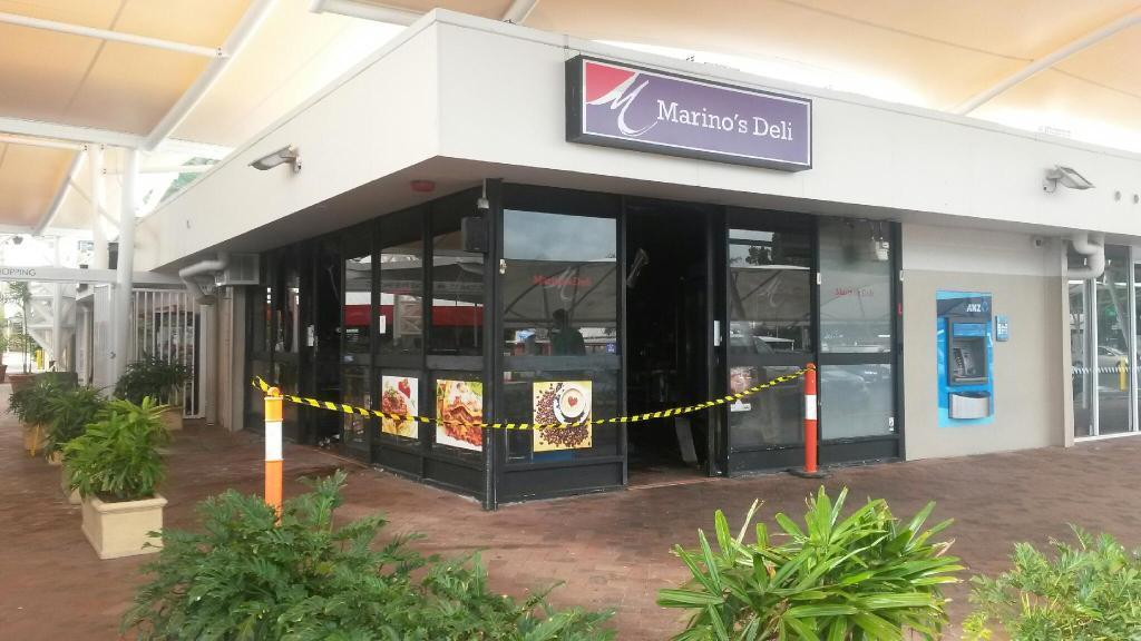 Marino's Deli was engulfed by flames overnight.