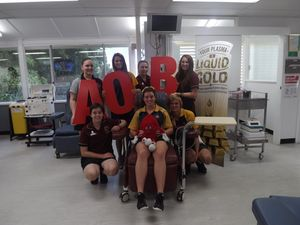 Students pumped to spread blood donation message