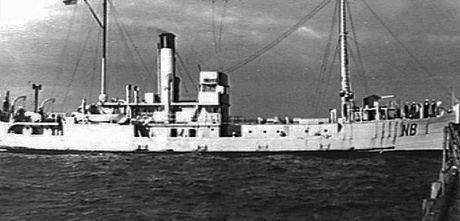 H.M.A.S. Nambucca used as a minesweeper.