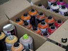 Spray cans to be used in First Coat street art and graffiti festival, Friday, February 21, 2014. Photo Kevin Farmer / The Chronicle