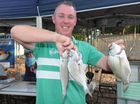 Hervey Bay Family Fishing Comp - Scott Cabrie from Toogoom with his catches for the day.