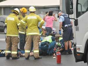 Pedestrian hit by truck in Gladstone