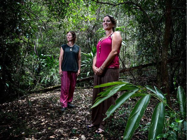 SPECIAL INTEREST: Miranda Williamson and Katrina Wood from ALFA (Australian Long Forrest Association) at the site of the proposed trail.