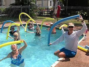 Aqua aerobics is buoyant