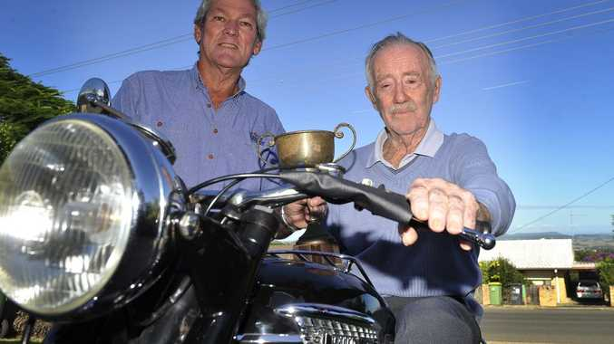 Col McAndrew, and motorcycling legend Jack Ahearn of Goonallabah, hope this weekend's Northern Rivers Classic Motorcycle Club Show will be a triumph.