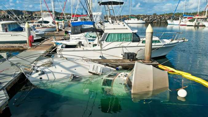 The cause of a 32-foot vessel sinking at Coffs Harbour International Marina is still unknown.