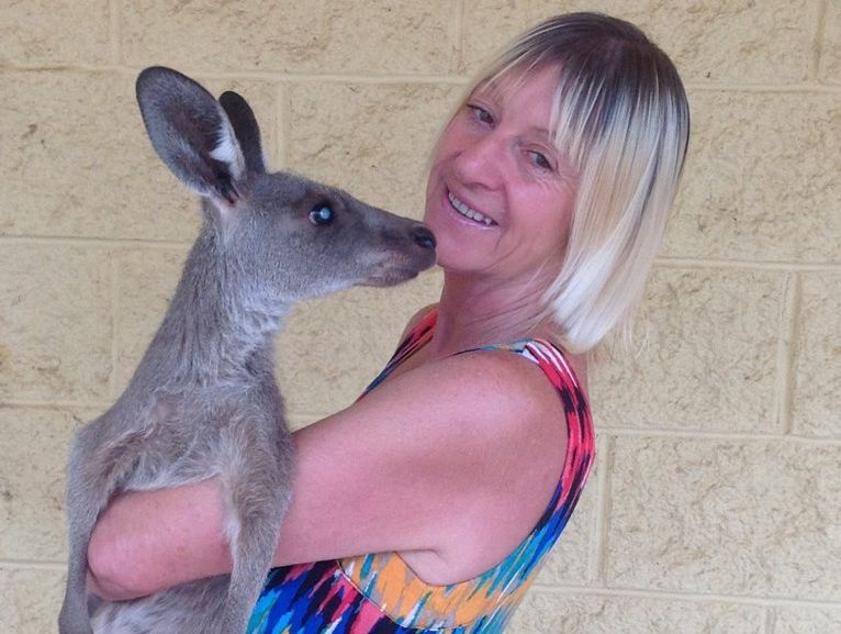 SAVING SKIPPY: Linda Smith is trying to raise money for an eye operation for her adopted kangaroo Dick Tracy.