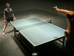 Humans win in epic robot ping pong battle