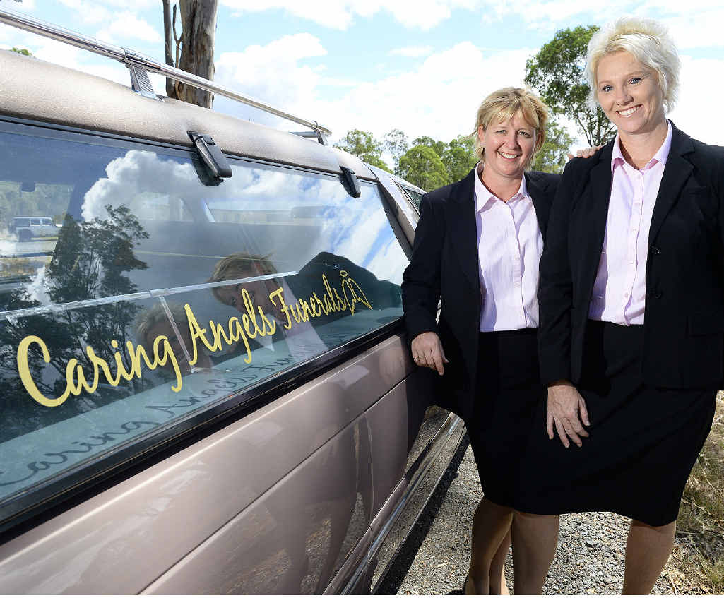 NEW ERA: Amanda Amos and Rachael Norford from Caring Angels Funerals.