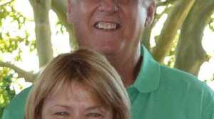 BELOVED PAIR: Rodney and Mary Burrows in December 2013.