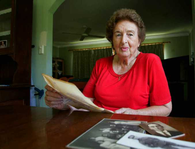 MEMENTO: Joan Chudleigh with a letter written by her ancestor George Banks who later died during the First World War.