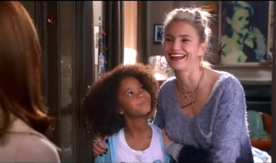 Quvenzhane Wallis and Cameron Diaz in a scene from the upcoming movie Annie.
