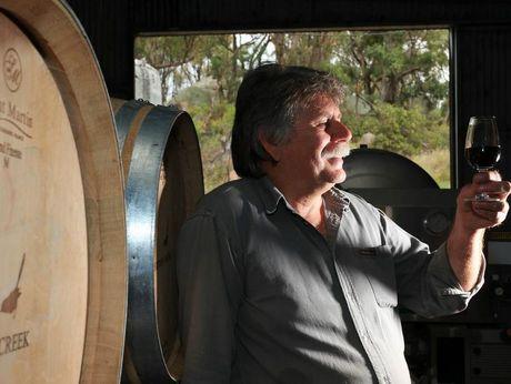 Award winning Winemaker Jim Barnes from Hidden Creek Winery & Cafe.