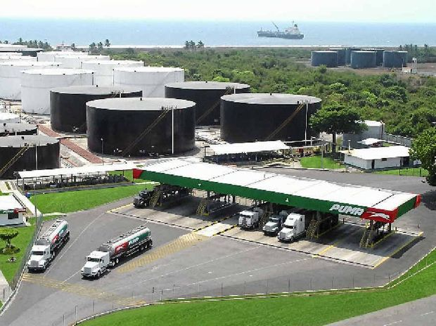 This Puma Energy terminal in San Jose, Guatemala, is similar to the petroleum import terminal being built at Mackay Harbour.