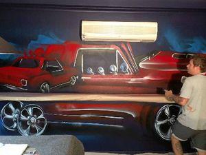 International graffiti artist brightens Gladstone nightclub