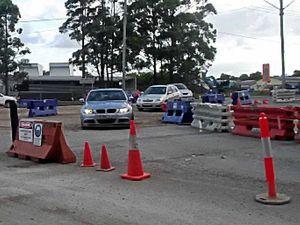 Roadworks test patience during school run