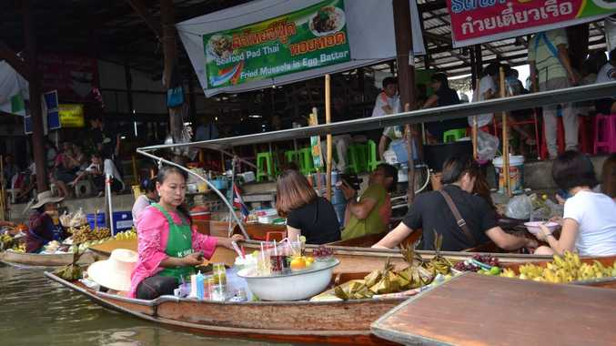 Damnoen Saduak Floating Market is a must-see when visiting Bangkok. It's 100km from the city but well worth the trip.