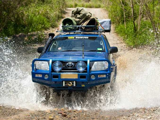 GET WET: Landcruiser Mountain Park at Jimna – great tracks for beginners or hard-core off-roaders.