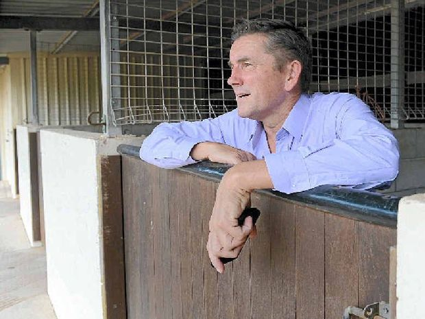 ECONOMIC SPIN-OFFS: AQHRD executive Allan Murnane at Bollier Park this week, where $60 million will be spent developing the race track and facility over the next two years.