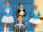 STEPPING UP: Natalie Brandon, Olivia Tudman, Jenai Taylor and Piper McDade (front) had great success at various Irish dancing competitions around Queensland.