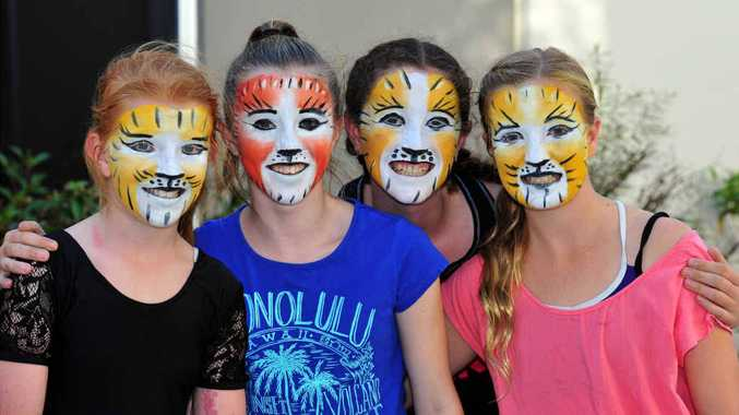 CLAWS TO CELEBRATE: These Sunshine Coast dancers have been successful in their auditions for Cats, Caley Monro, Marina McBain, Emily Potts and Ella Banic.