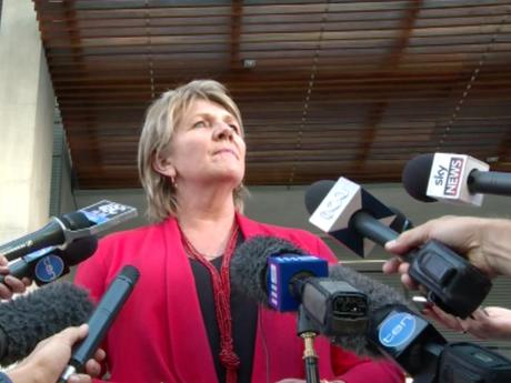 Bravehearts founder Hetty Johnston speaks to the media after Brett Peter Cowan was found guilty of murdering Sunshine Coast boy Daniel Morcombe.