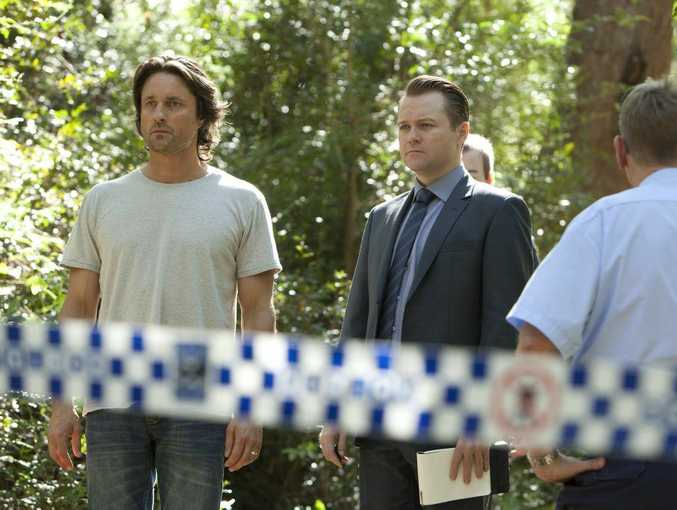 GRIPPING CRIME: Martin Henderson as Ben Gundelach and Anthony Hayes as Detective Ian Cornielle in a scene from Secrets and Lies, showing on Network Ten on Monday nights.