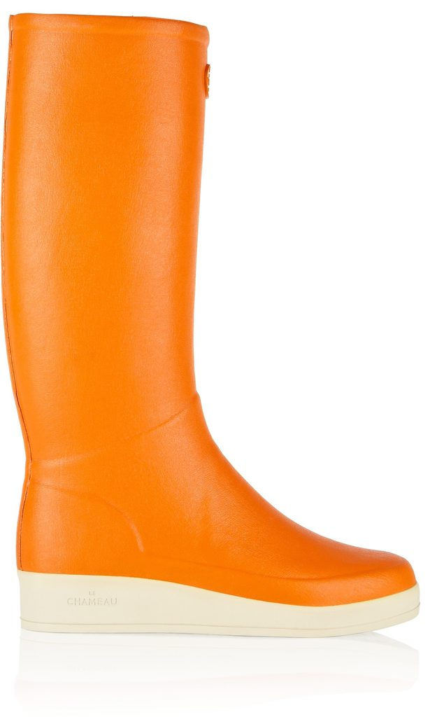 Le Chameau Paris rubber boots. Price $168.28 (AUD). Available from www.net-a-porter.com. Photo Contributed