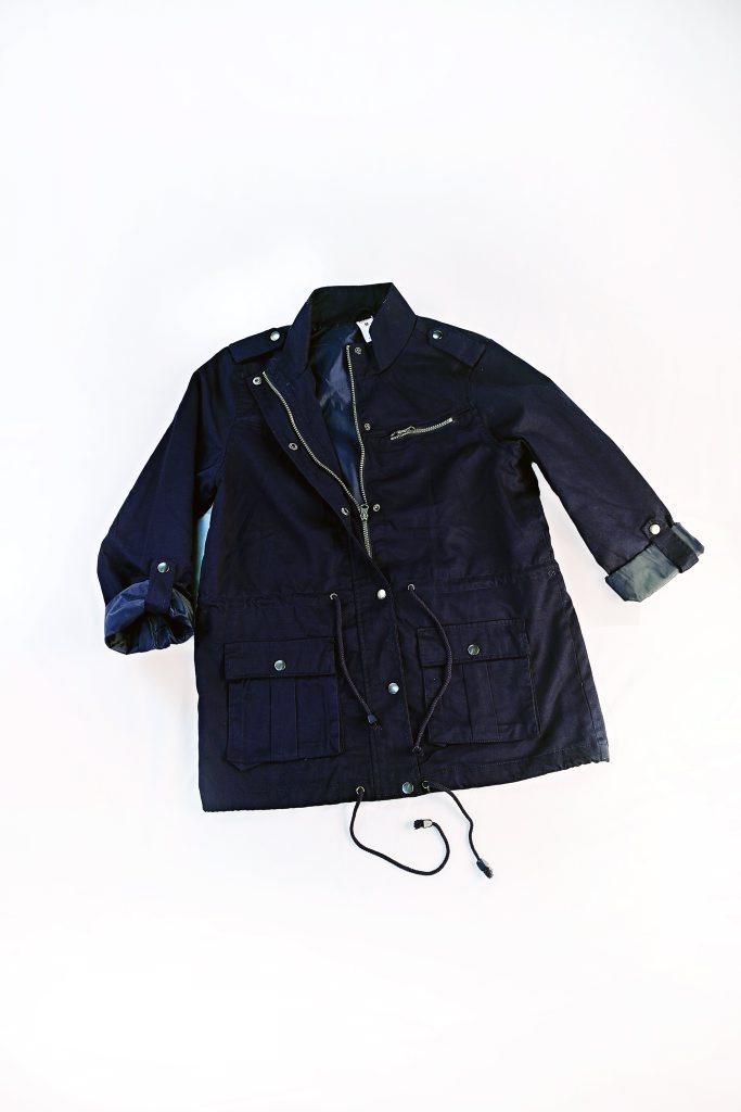 Women's Anorak Jacket in Navy Blue ($25.00), available from Kmart in Stockland Gladstone. Photo: Strong Images Photography for Stockland Gladstone