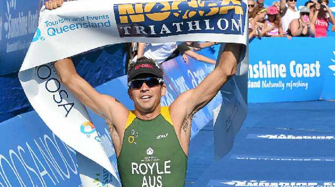 CONFIDENCE BOOSTER: Aaron Royle takes out last year's Noosa Triathlon.