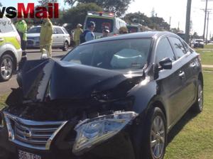 Family taken to hospital after morning smash