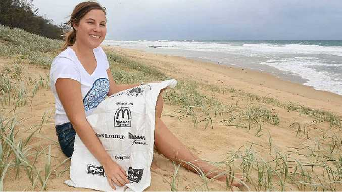 CHANGING A GENERATION: Jessica Abraham is the face of a clean beach initiative.