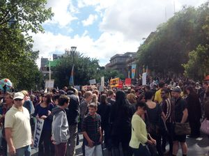 March in March sees tens of thousands protest Abbott