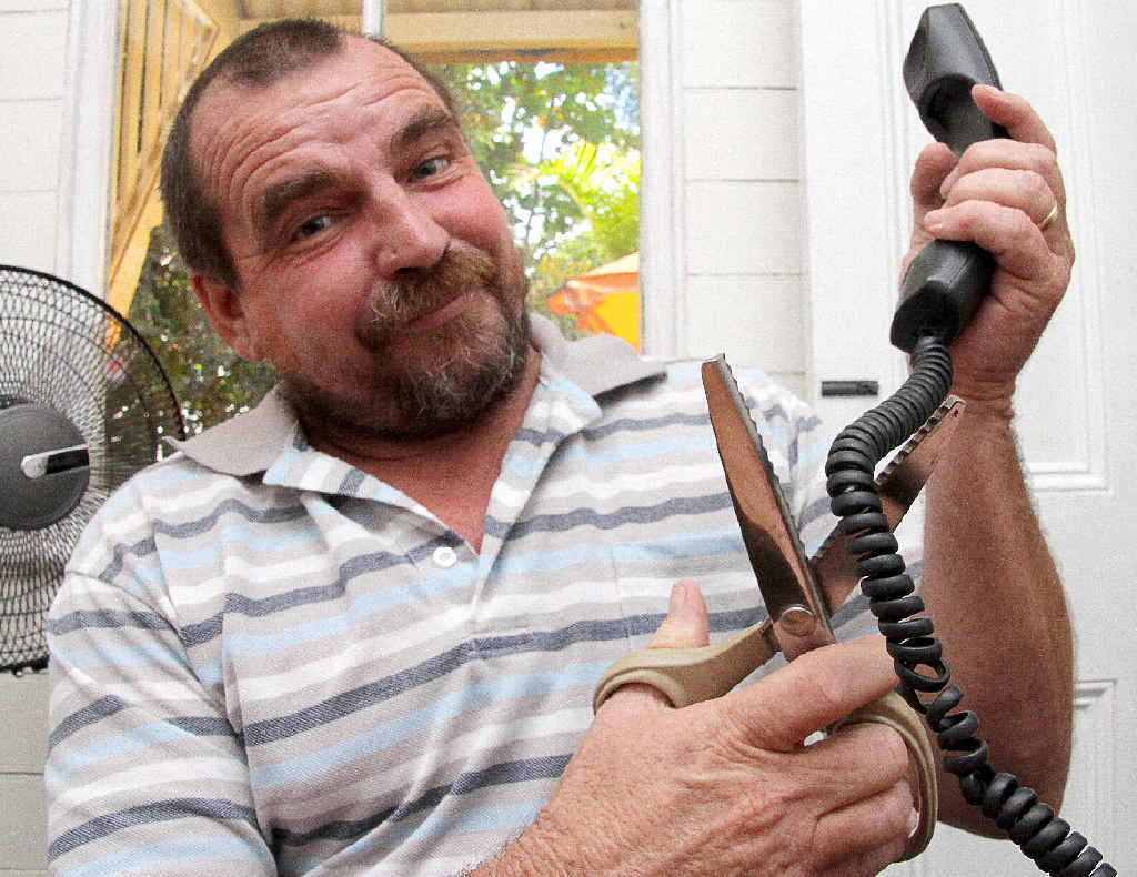 HUNG UP: David Mighell is warning residents to be wary of telephone scams.