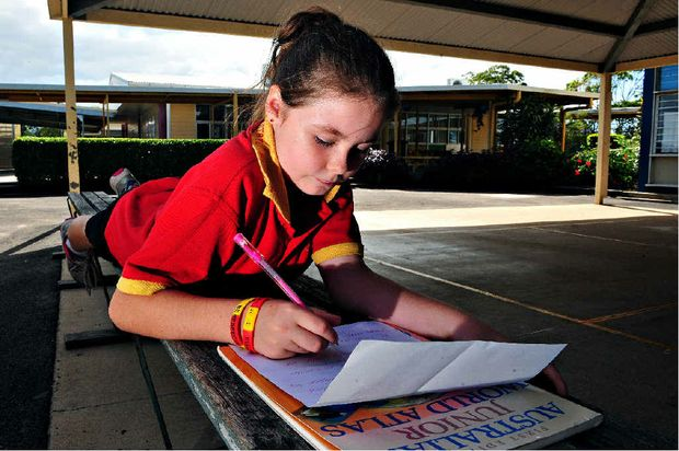 DON'T GO: North Bundaberg State School student Harmony Childs, 9, has written a heartfelt letter in support of her school chaplain.
