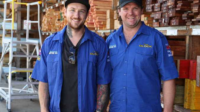 The Block Fans v Faves contestants Dale Vine and Brad Cranfield visited Woodman's Mitre 10 as part of the Mitre 10 Aussie Road Trip.