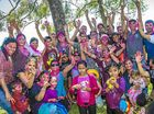 Holi celebrations at Spinnaker Park, Gladstone.