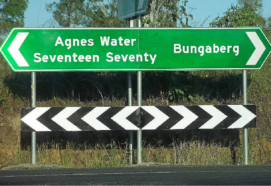 Bundaberg may be suffering from an identity crisis following the erection of this sign.