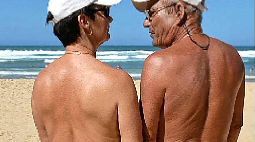 Beach sex party