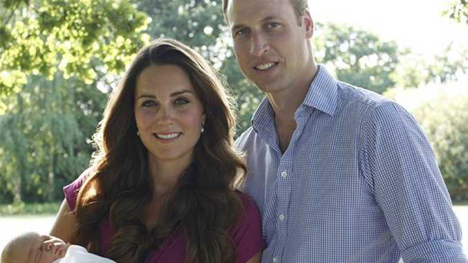 Prince William and Duchess Catherine with Prince George