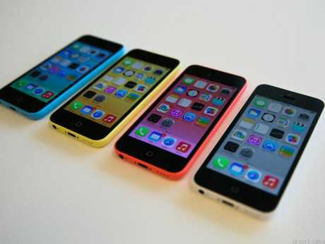 The colourful iPhone 5c range.