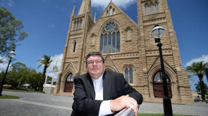 Catholic Bishop of Rockhampton Michael McCarthy has renewed an apology to victims of child abuse at Neerkol.
