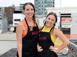 MKR villains Chloe and Kelly win over tradies' hearts