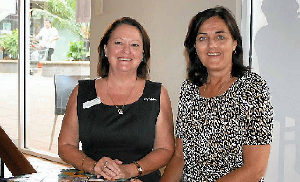 BUSINESS BOOST: Joanne Moynihan and Theresa Manning encourage budding entrepeneurs to submit their applications for the kickstart program.