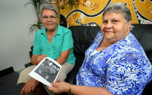 MAGIC MOMENT: Sisters Mona Kielly (left) and Amy Lester have incredible memories of the day they met The Beatles in Brisbane in 1964. Fifty years on and a photo has emerged showing Amy with Ringo Starr and George Harrison.