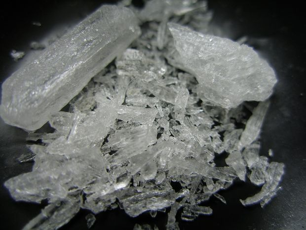Dale Thomas Robertson was caught with his mother's methamphetamine.