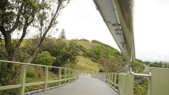 A section of the Ballina Shire's shared coastal pathway, near Pat Morton Lookout at Lennox Head.